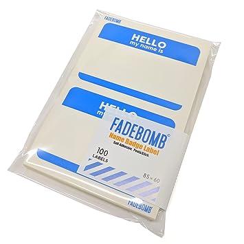 amazon fadebomb printable name badge label hello my name is