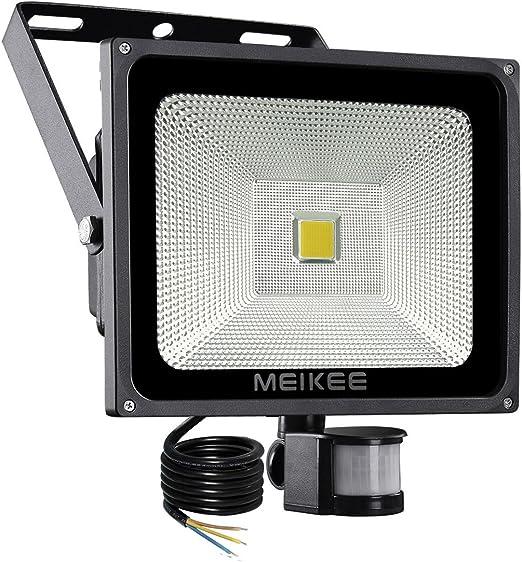 MEIKEE 50w Foco LED con Sensor Movimiento de 5000LM, Proyector LED ...