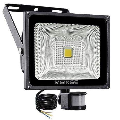 MEIKEE 50w Foco LED con Sensor Movimiento de 5000LM, Proyector LED exterior 6000k con detector