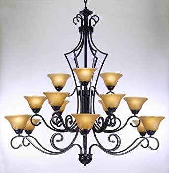 Large foyer or entryway wrought iron chandelier h51 x w49 large foyer or entryway wrought iron chandelier h51quot aloadofball Choice Image
