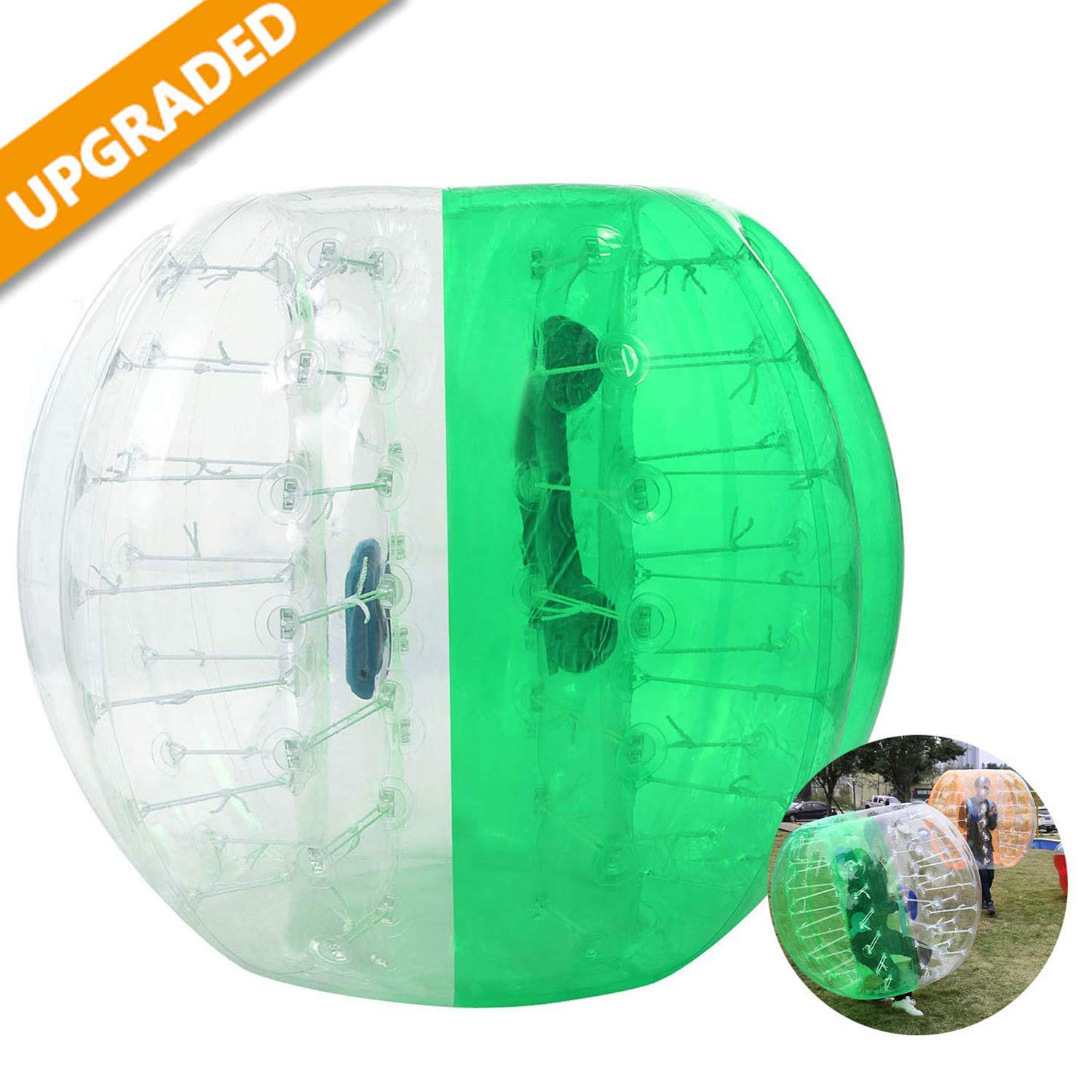 Hurbo Inflatable Bumper Ball Bubble Soccer Ball Giant Human Hamster Ball for Adults and Kids (Green) by Hurbo