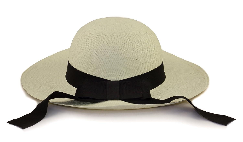 Tumi vero cappello panama tradizionale in fibre naturali tessute a mano.