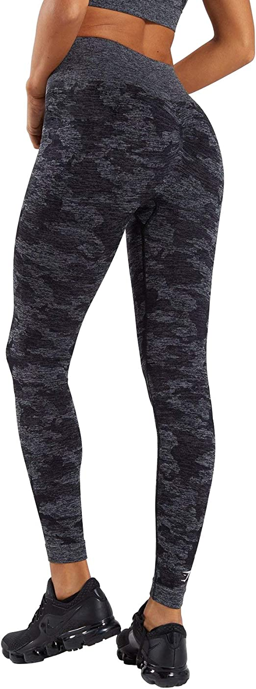 Mimio Seamless Camo Yoga Pants for Women High Waisted Gym Sport Running Workout Leggings SL