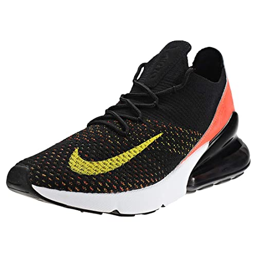 db7b8ccf66 Nike Air Max 270 Flyknit, Scarpe Running Donna, Multicolore (Black/Yellow  Strike