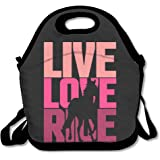 ScutLunb Lunch Bag Live Love Ride Horse Lunch Tote Lunch Box For Women Men Kids With Adjustable Strap