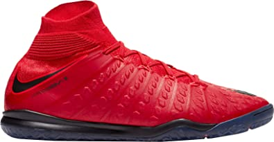 buy online 35776 1880f Nike Men s Hypervenomx Proximo II DF IC Indoor Soccer Shoes (10, University  Red