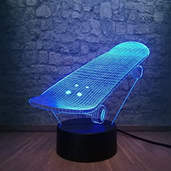 Sports Scooter lamp 3D LED USB Three-Dimensional Innovative Desk Lightsador RGB Decorative with
