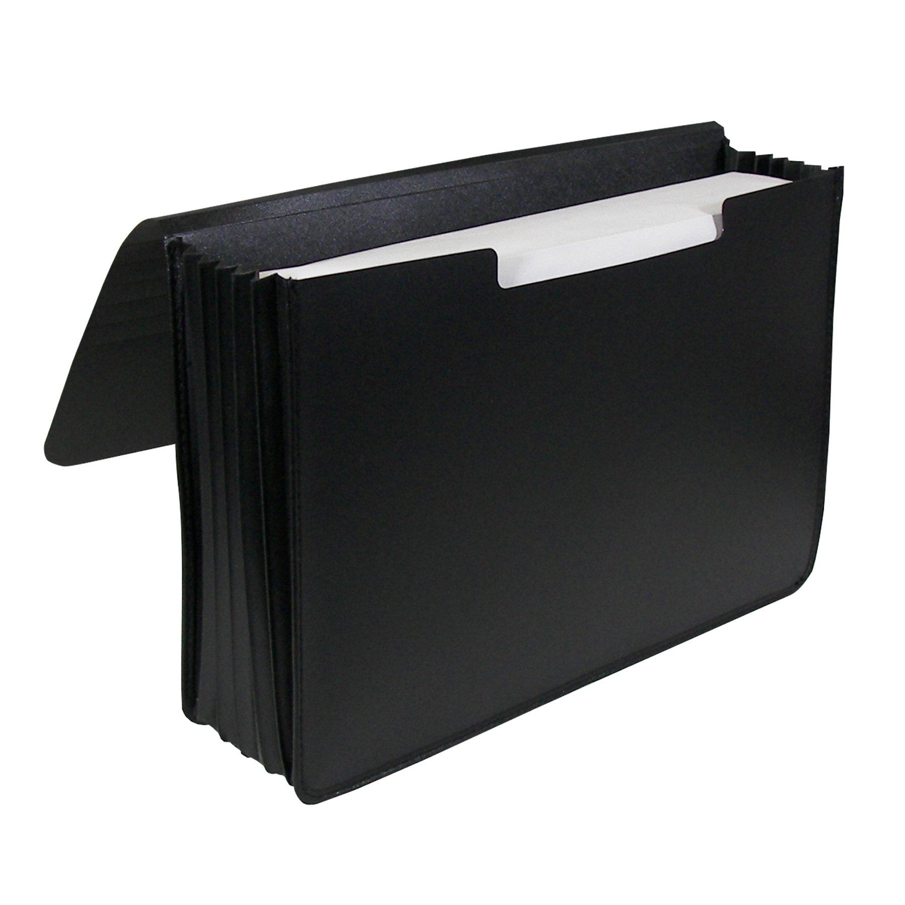 C-Line Extra Large Poly Document Case, Legal Size, 1,000-Sheet Capacity, 1 Case, Black (48011)