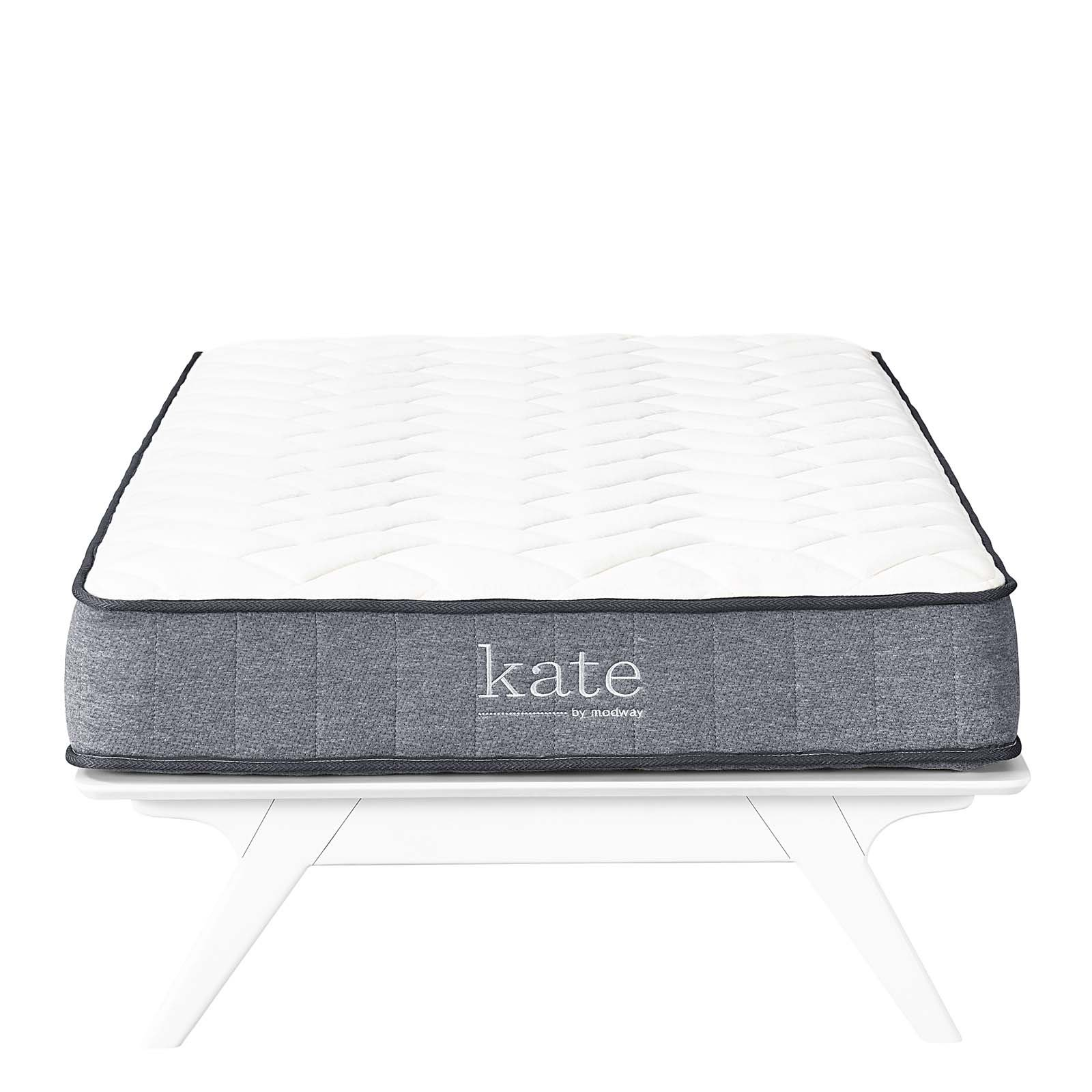 """Modway Kate 8"""" Twin Innerspring Mattress - Firm Mattress For Child or Guest Room - Perfect For Bunk Bed - Loft Bed - 10-Year Warranty"""