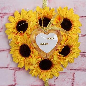 Amazon.com: Bgblgf M - Cojín romántico para anillo de boda ...