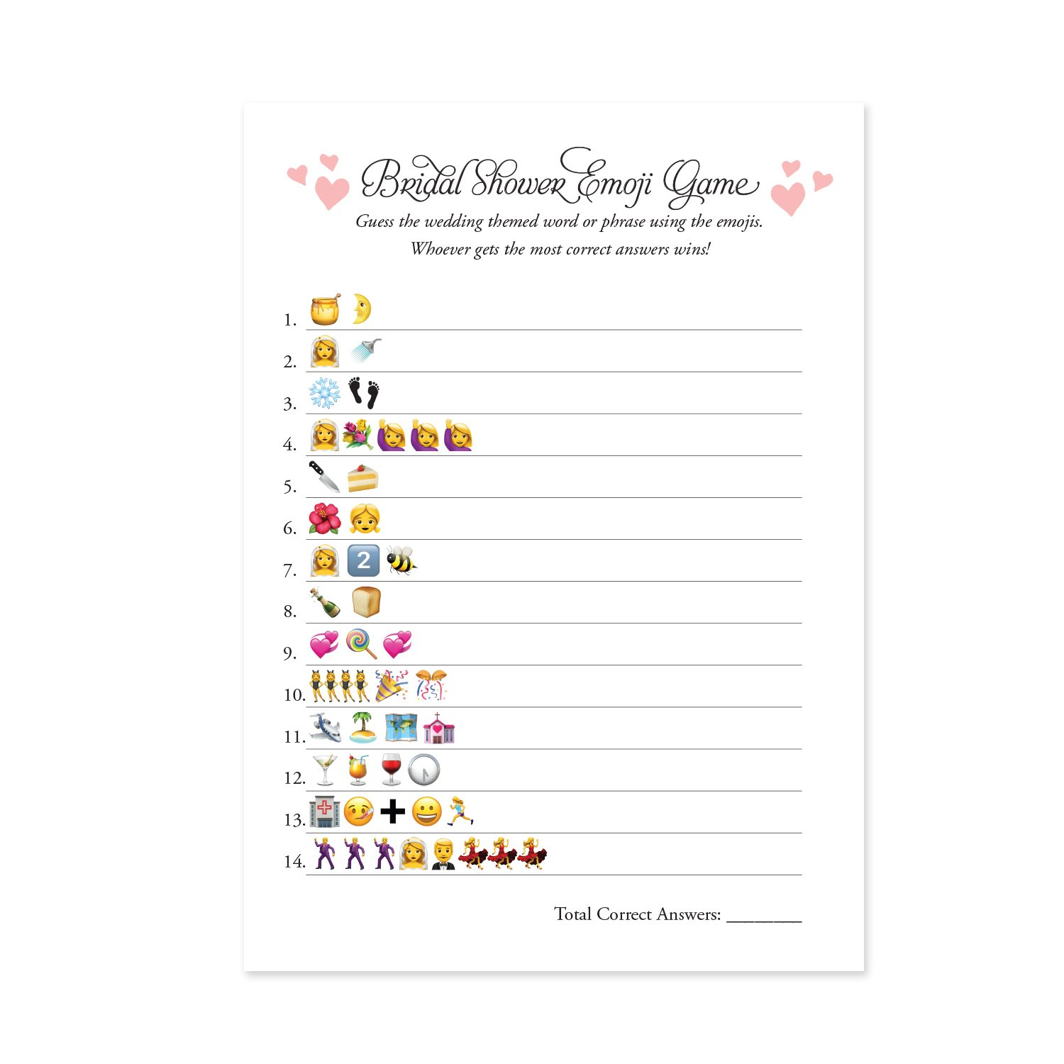amazoncom 50 cards emoji bridal shower games ideas bridal party wedding shower bridal shower activities bachelorette or engagement party for men and