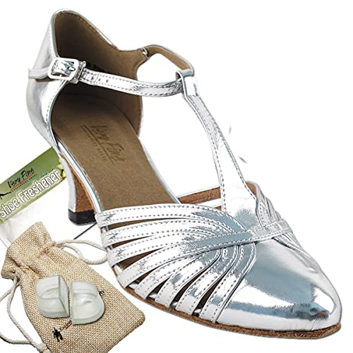 1930s Style Shoes – Art Deco Shoes Womens Ballroom Dance Shoes Tango Wedding Salsa Shoes 6829BEB Comfortable-Very Fine 2.5 [Bundle of 5] $65.95 AT vintagedancer.com