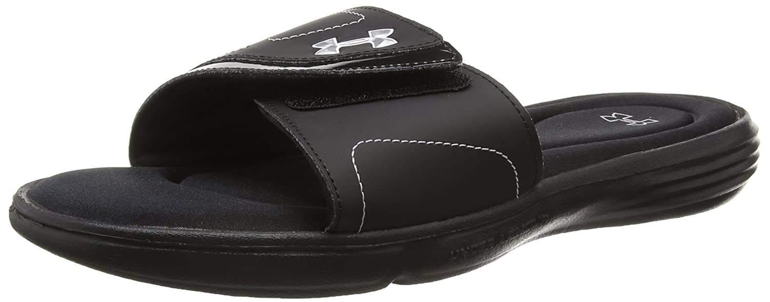 Under Armour Women's Ignite VII Slide Sandal B00LHARI4S 10 M US|Black (001)/Metallic Silver
