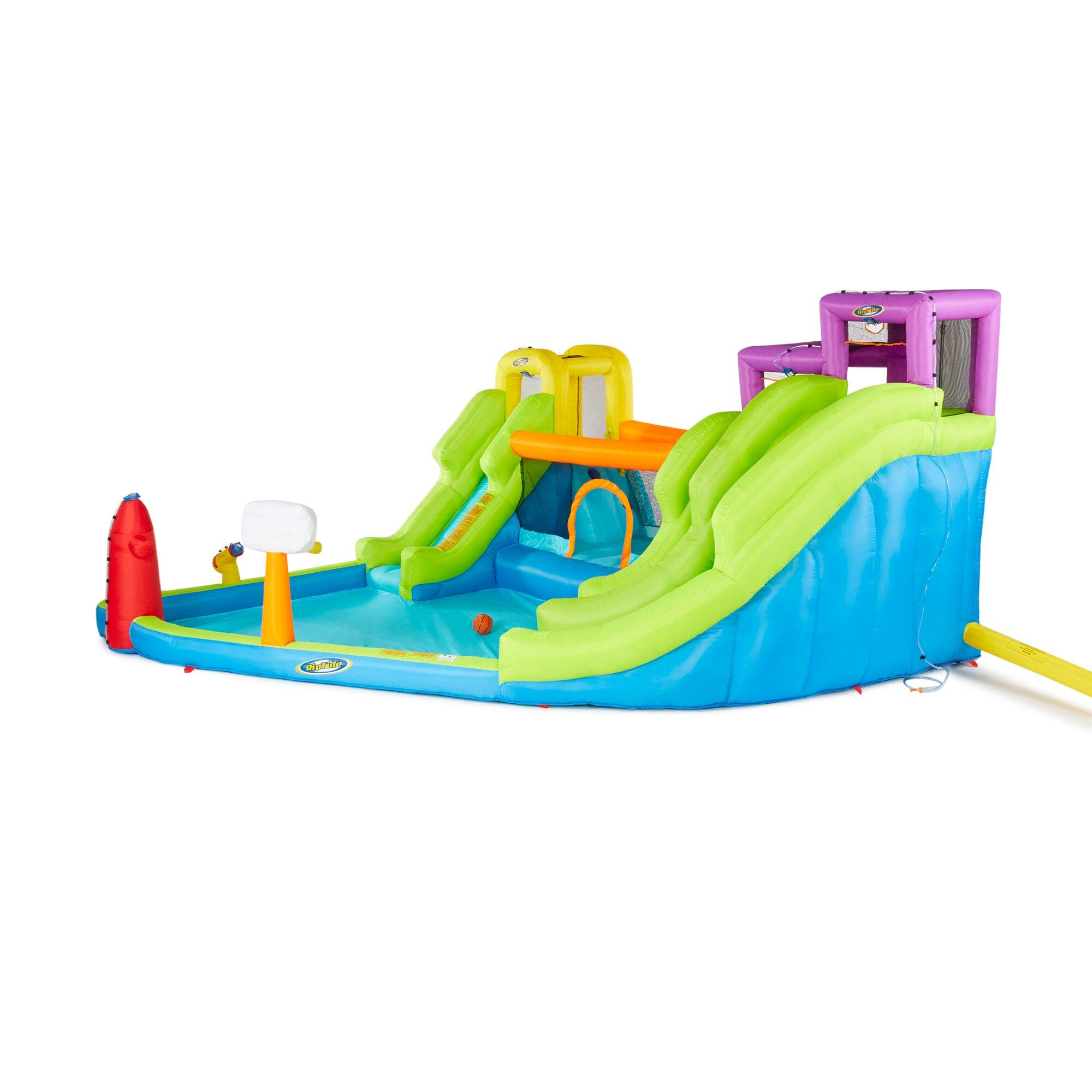 Riptide Triple Fun Inflatable PVC Water Park with 3 Slides & Obstacle Course by Riptide (Image #4)