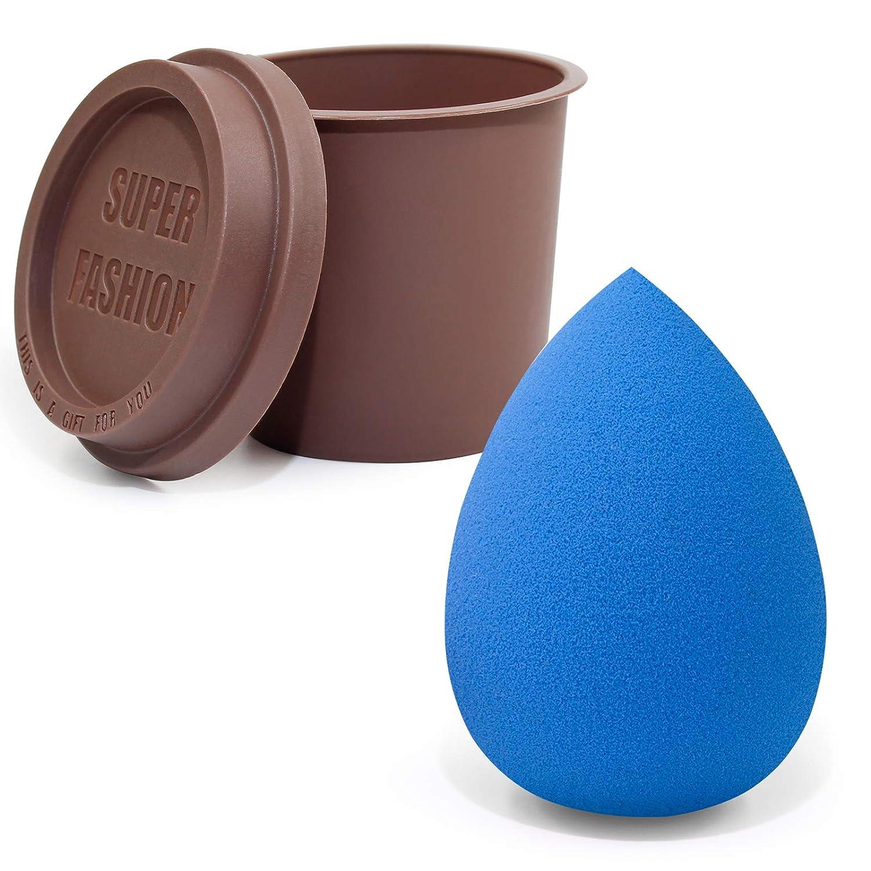 Foonbe Makeup Sponge, Blender Makeup Beauty Sponge, Latex-free & Vegan Sponges, for Cream, Foundation & Powder Application (1Pcs, Blue)