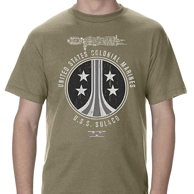 Amazon.com: CUSTOM USS Sulaco Colonial Marines Distressed Adult T-Shirt: Clothing