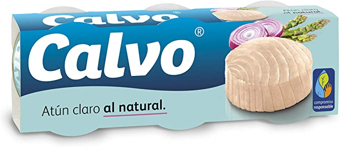 Oferta amazon: Calvo Atún Claro Al Natural - 3 unidades x 80 gr, 240 gr