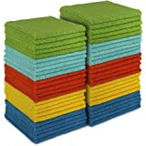 AIDEA Microfiber Cleaning Cloths-50PK, All-Purpose Softer Highly Absorbent, Lint Free - Streak Free Wash Cloth for House, Kit