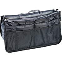 Hockline Purse Organizer Insert Handbag Organizer Bag in Bag Insert Liner Pocket with Handles (17 Pockets 4 Colors 3 Size)