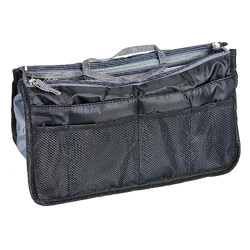 1553dd6d6e69 Hockline Purse Organizer Insert Handbag Organizer Bag in Bag Insert Liner  Pocket with Handles (17 Pockets 4 Colors 3 Size)