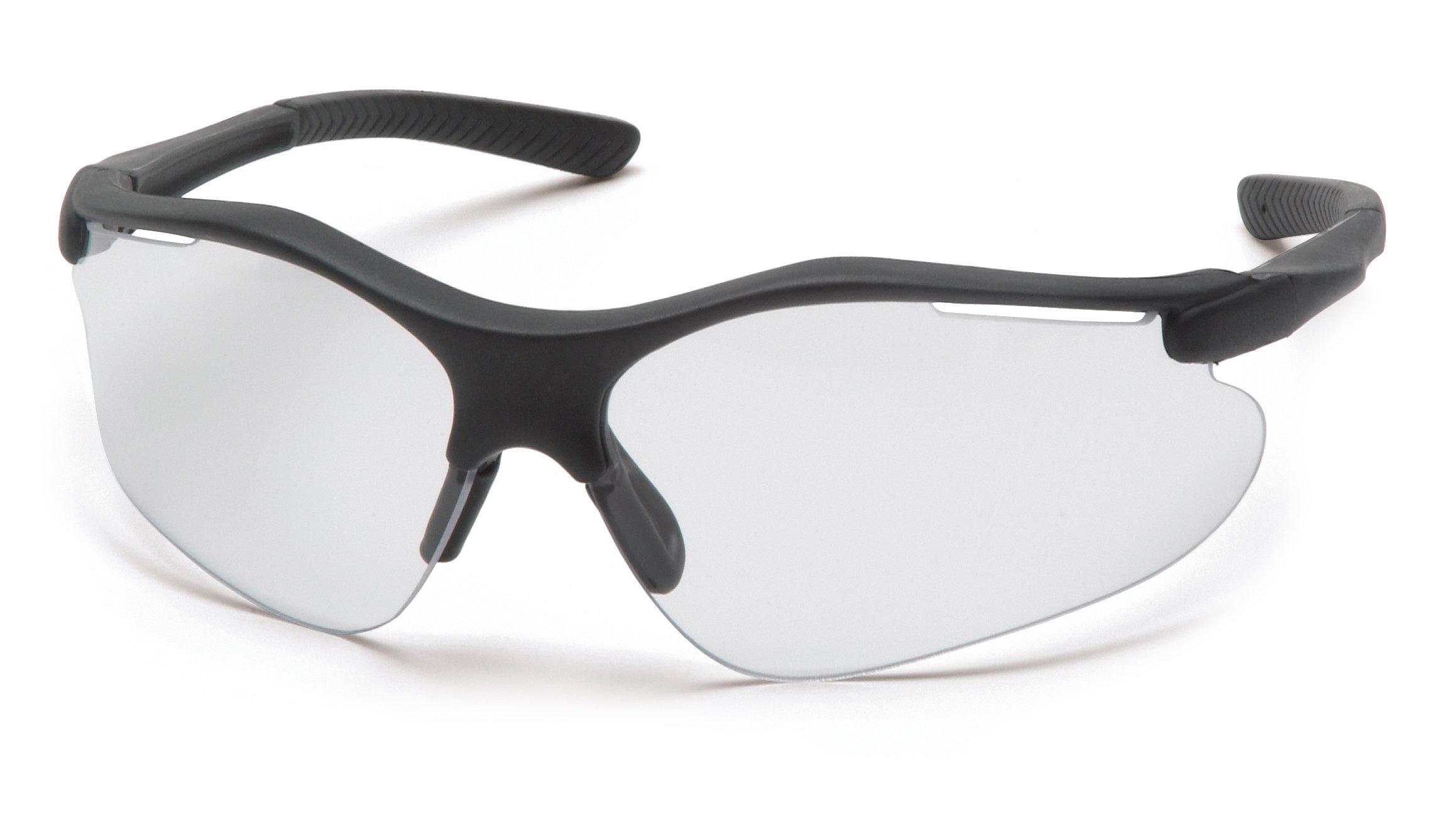 Pyramex Fortress Safety Eyewear, Clear Anti-Fog Lens With Black Frame