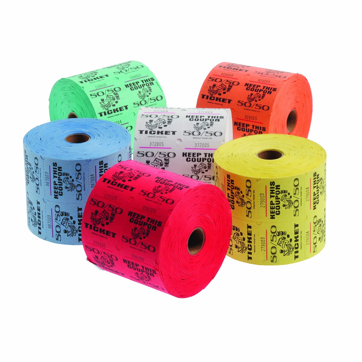 com blue raffle tickets roll of office com blue 50 50 raffle tickets roll of 1000 office products