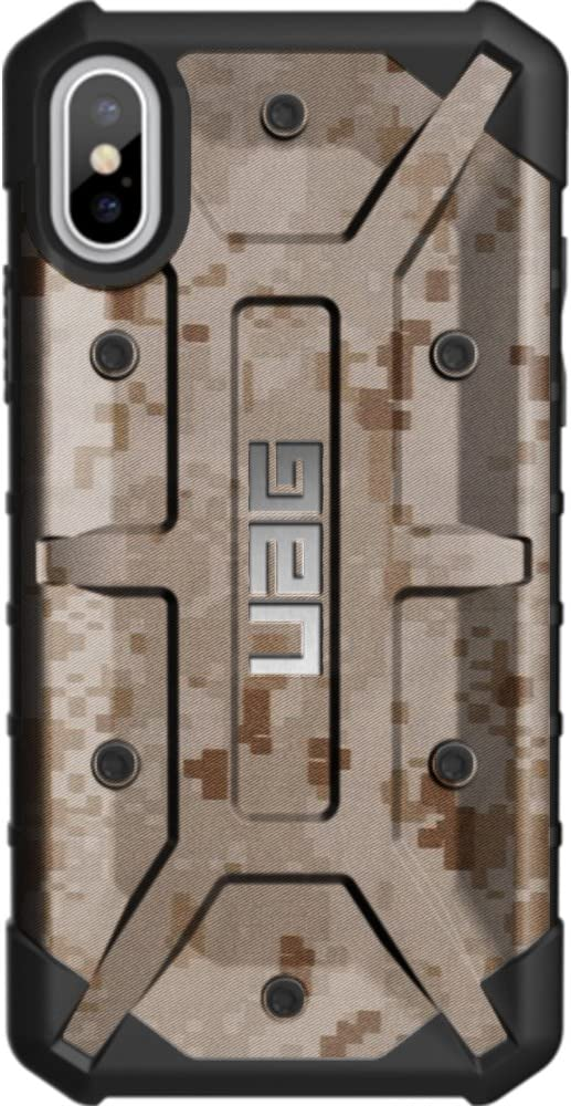 Limited Edition 5.8 - Dont Tread on Me Flag on US Camo Flag Subdued Customized Designs by Ego Tactical Over a UAG- Urban Armor Gear Case for Apple iPhone X//Xs