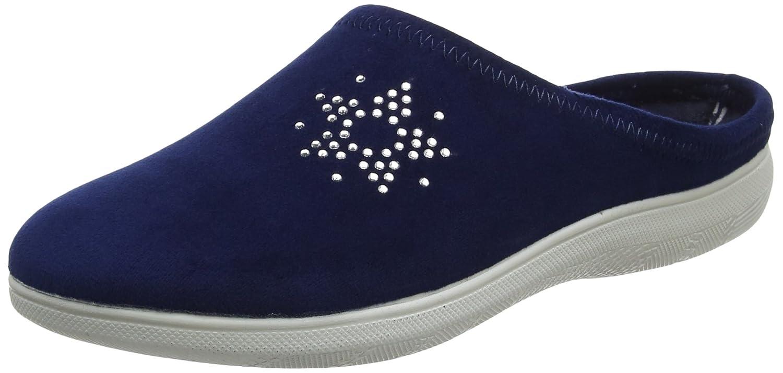 INBLU BS000031, Pantofole Aperte sulla Caviglia Donna, Blu, 39 EU -