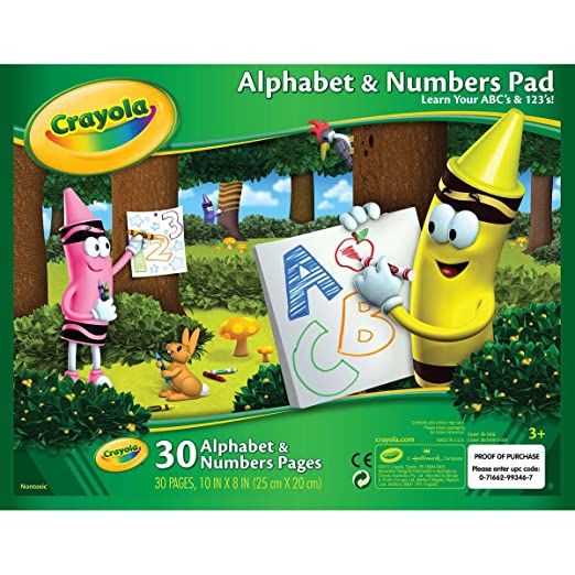Amazon.com: Crayola Alphabet and Number Pad ABC/123 Tablet: Toys ...