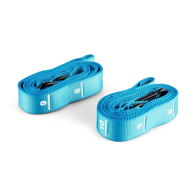 Capital Sports Addic Cinghia In Nylon per Ginnastica fitness Competizione (182 cm, Due Pezzi, Con Moschettone Standard) blu