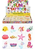 Sea Life Creature Animal Tattoos Pack of 24 - Great Party Loot Bag Fillers