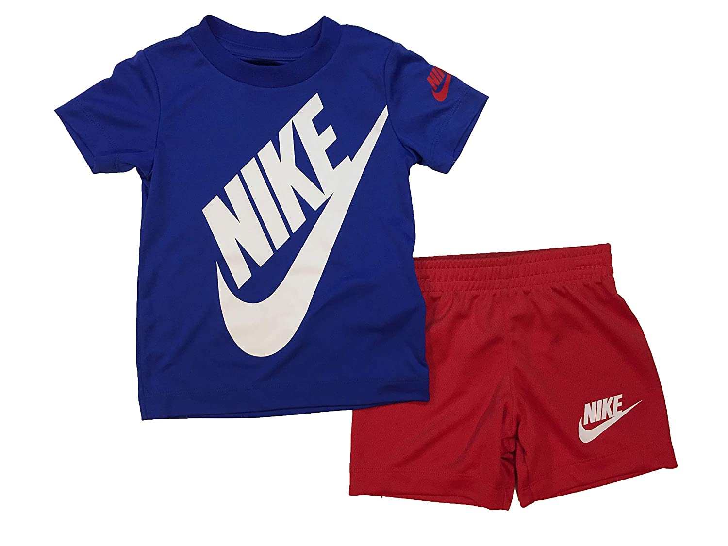 aa7cddf5d9 Amazon.com: Nike Boy`s Dri-Fit T-Shirt & Shorts 2 Piece Set: Sports &  Outdoors