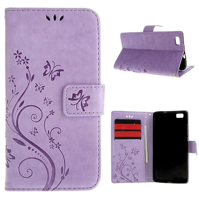 30 opinioni per ivencase per Huawei P8 Lite Cover Retro Magnetico Portafoglio Silicone Slot