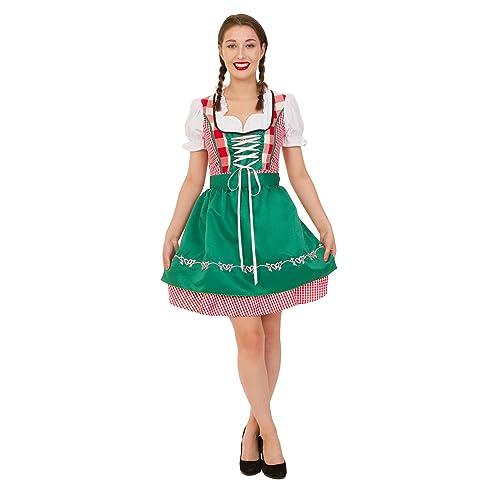CLUBCORSETS Ladies Gingham Oktoberfest Beer Maid Wench German Bavarian Heidi Fancy Dress Costume