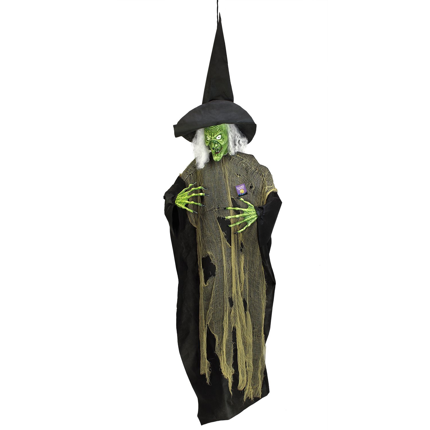 Halloween Haunters 7 foot Hanging Scary Evil Wicked Witch Prop Decoration