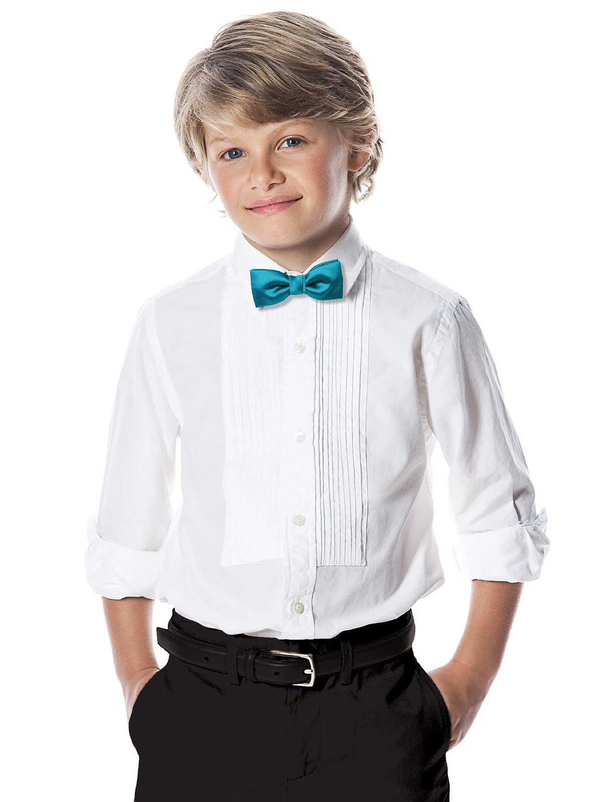 Boy's Paragon Jacquard Bowtie by After Six from Dessy - Oasis by Dessy (Image #2)