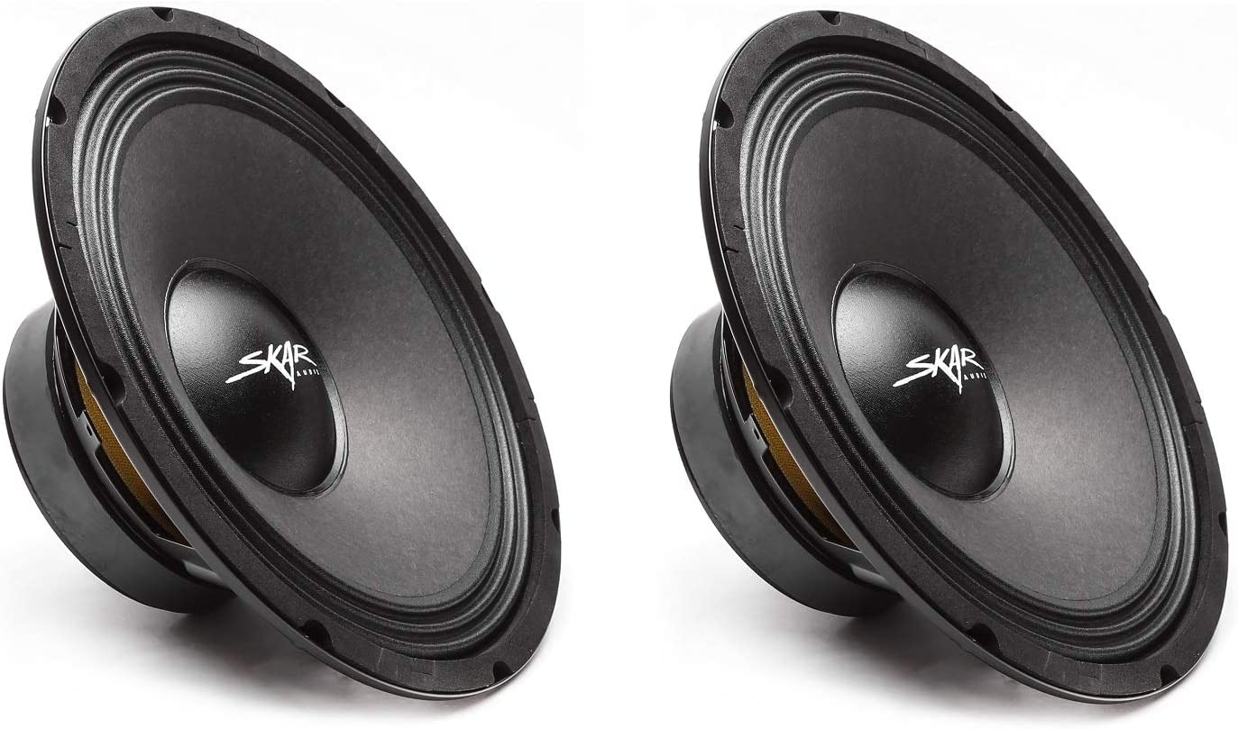 Skar Audio FSX10-8 400-Watt 10-Inch 8 Ohm MID-Range Loudspeakers - 2 Speakers