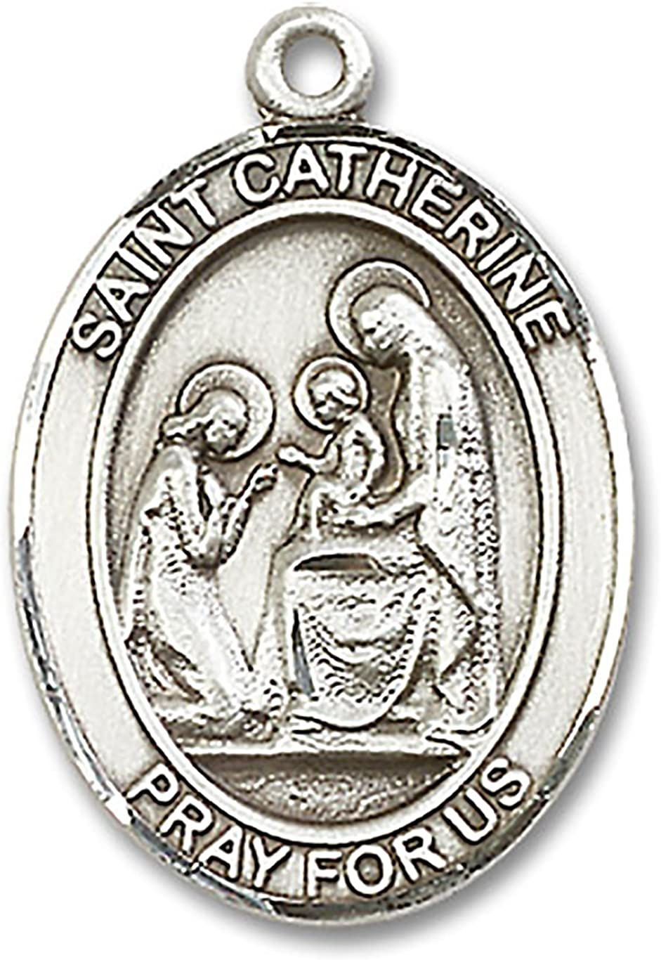 Heartland Mens St Catherine of Siena Sterling Silver Medal USA Made