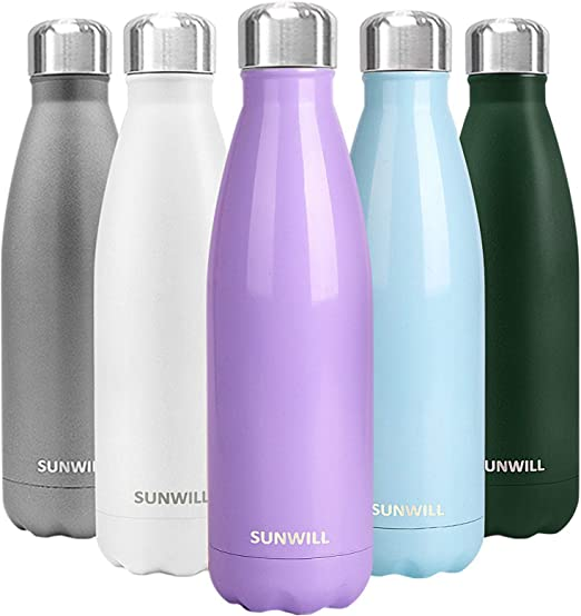 Vacuum-Insulated Stainless Steel Water Bottle Outdoor Camping Hiking Sport Flask