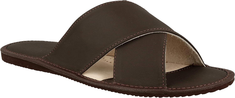 Zapatillas de Hombre Zapatos de Cuero para Adultos Elegantes y lujosas Sandalias Suaves
