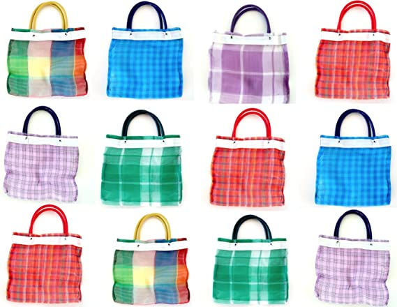 Alondra/'s Imports New Uniquely Designed Mini Mexican Tote Favor Bags 6 Pack