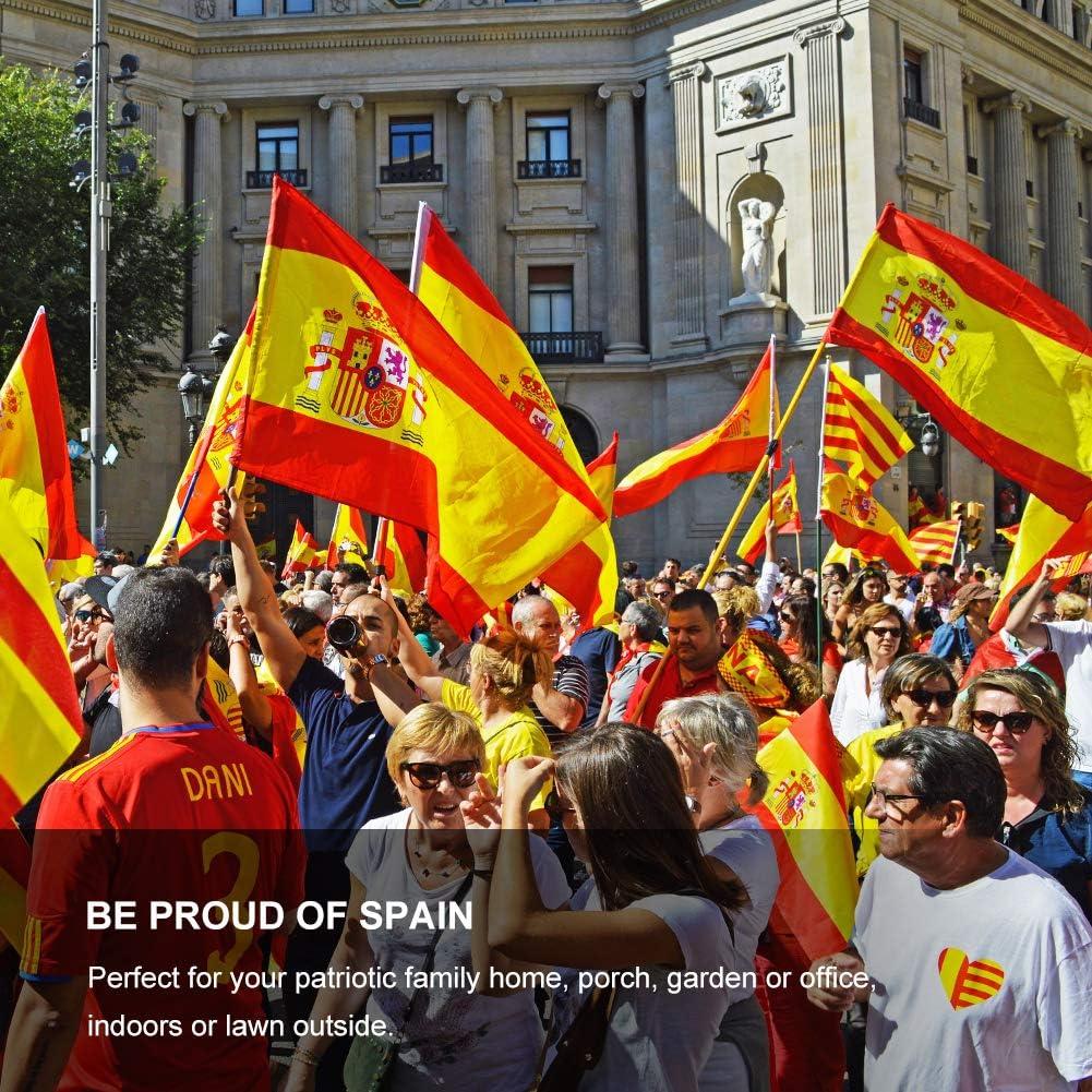 FLAGBURG Bandera de España de 5x8 pies, Bandera Española Duradera ...