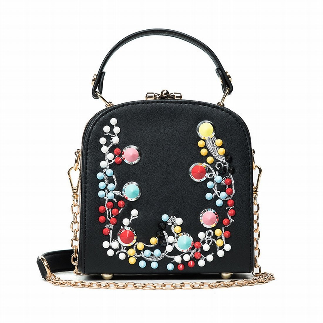 Fashion Bag Hit Farbe Liu Nail Handtasche Schultertasche Freizeit Kette Messenger Bag