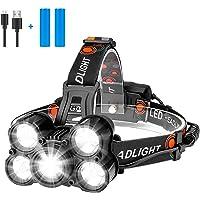 Eletorot Hoofdlamp USB Oplaadbare Koplamp Super Heldere 1000 lumen Zoombare Koplamp met 4 Werkmodi Lichtgewicht…