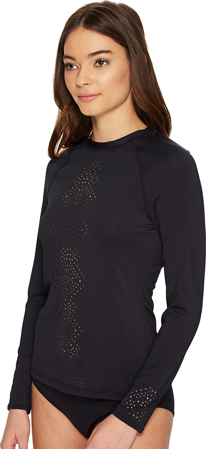 6f8c2fcba1d15 Amazon.com: Seafolly Women's Spice Temple Long Sleeve Sunvest Black  Swimsuit Top: Clothing
