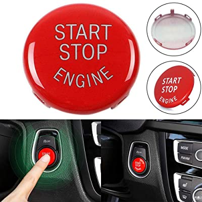 Start Stop Engine Button Switch Red Cover For BMW 3 Series E90 E92 E93 5 Series: Automotive