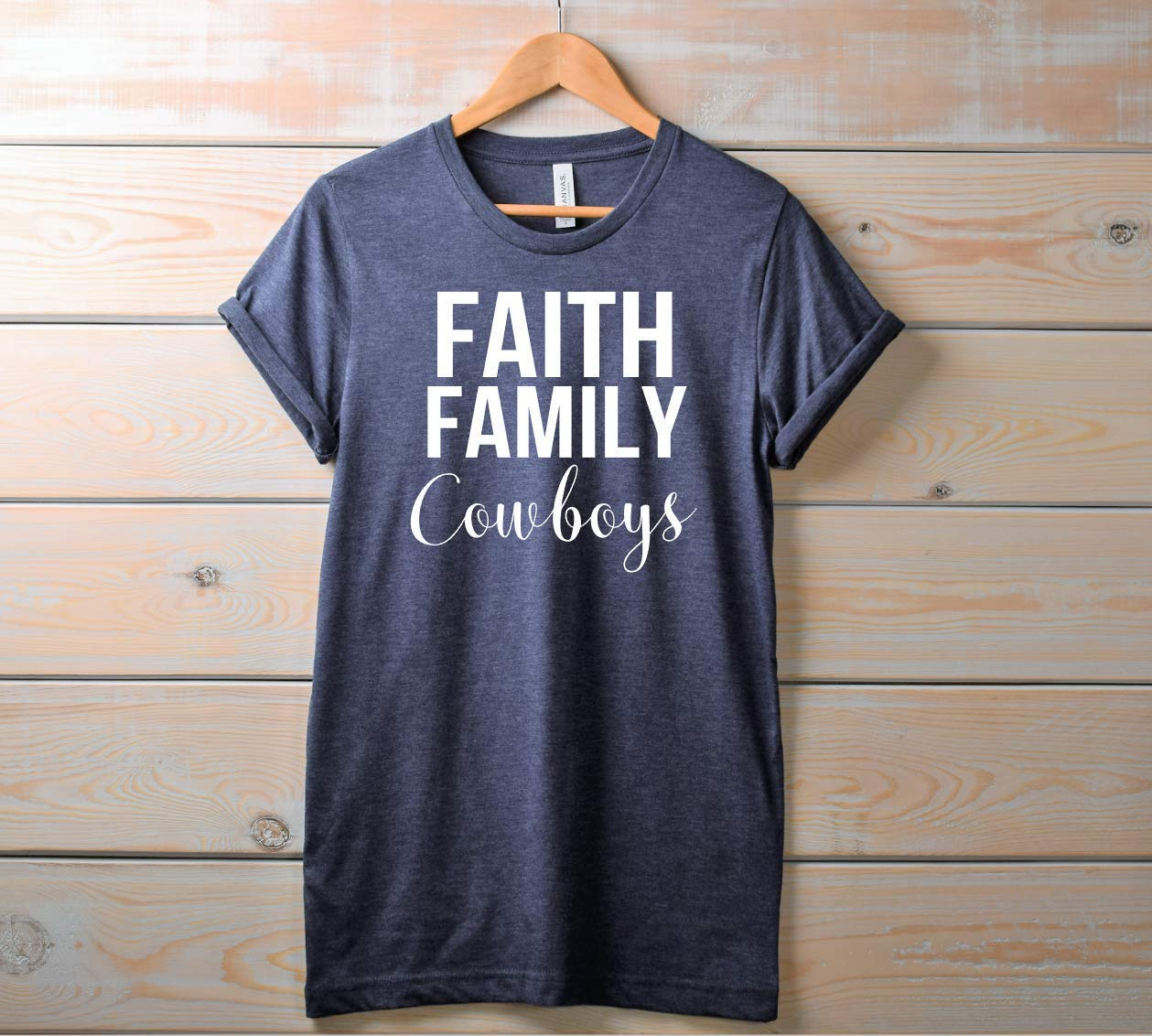 Womens Faith Family Cowboys Game Day Football Shirt