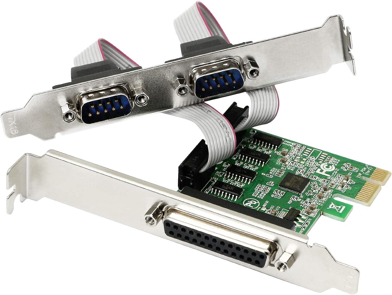 Cerrxian Ax99100 Chipsatz 2 Port Serial Com Db9 Rs 232 Computer Zubehör