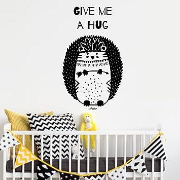 Vinilo infantil Erizo. 60X 100 cm. Color negro: Amazon.es: Bebé