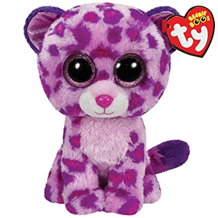 Amazon Com Ty Beanie Boos Glamour Leopard Plush Pink Toys Games